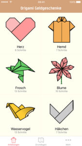 Money Origami Diagrams