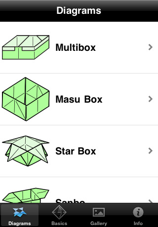 Origami Boxes Diagrams