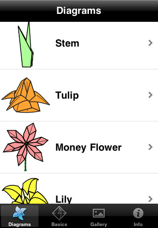 Origami Flowers Diagrams